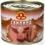 Свинина Пан Іван тушеная ж/б 525г