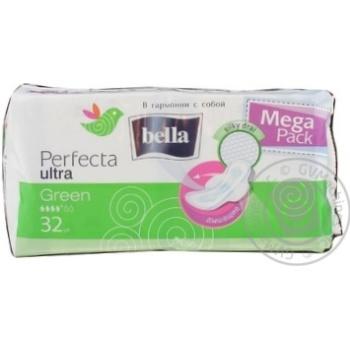 Прокладки Bella Perfecta Ultra Green 4 капли 32шт - купить, цены на Novus - фото 2