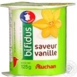 Бифидойогурт Ашан ваниль 125г