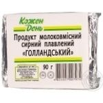 Сырный продукт Каждый день Голландский плавленый молокосодержащий 50% 90г Украина