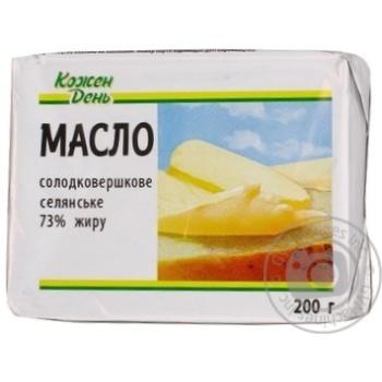 Масло Каждый день Селянское сладкосливочное 73% 200г