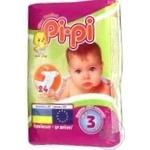 Підгузник дитячий Pi-Pi розмір 3 Midi упаковка 24 штук