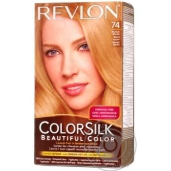 Фарба для волосся Revlon ColorSilk 74 Натуральний блондин 7N