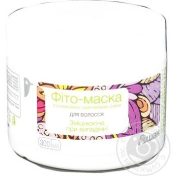 Фито-маска Auchan Укрепляющая с оливковым и репейным маслом против выпадения волос 300мл