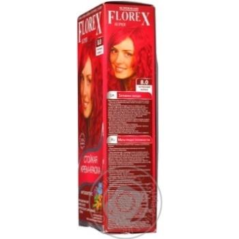 Крем-краска Florex для волос цвет красный коралл - купить, цены на Ашан - фото 2