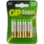 GP Super Batteries LR6 AA 4pc