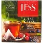 Чай Тесс Форест Дрим черный с кусочками ежевики и малины 1,8г х 20шт