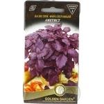 Насіння Базилік фіолетовий Аметист Golden Garden 0,3г