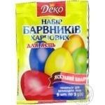 Набір барвників для пасхальних яєць Деко 20г