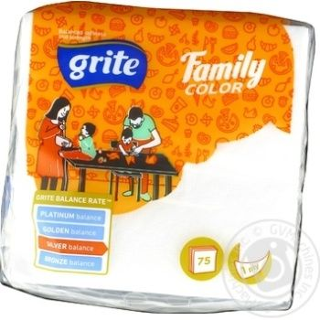 Серветки Grite Family 24*24 білі