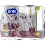 Рушники паперові Grite Charisma Pure White 3шт