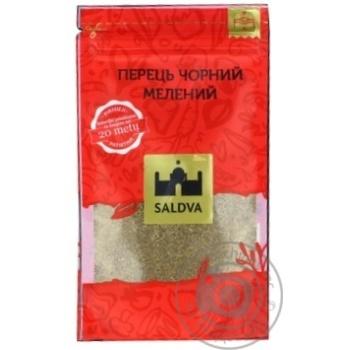 Перец черный молотый Saldva 25г - купить, цены на Novus - фото 1