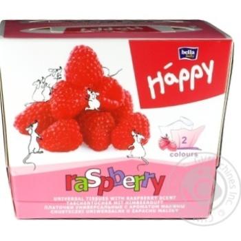 Хустинки паперові унiверсальні двошарові Bella Baby Happy 40+40шт ароматом малини - купити, ціни на Novus - фото 2