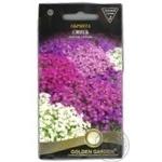 Насіння Квіти Обрієта суміш Golden Garden 0,1г