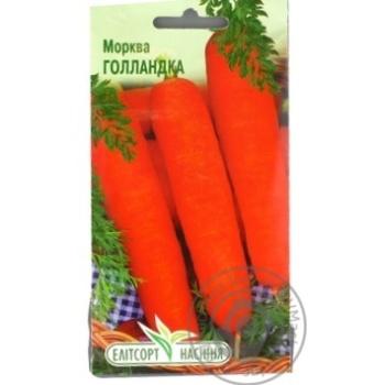 Семена Елітсортнасіння Морковь Голландка 2г