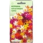 Насіння Елітсортнасіння Квіти Жоржини кактусовидна суміш 0,1г