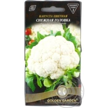 Насіння Капуста цвітна Снігова голівка Golden Garden 0,5г - купити, ціни на Novus - фото 1