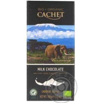 Шоколад молочный Cachet органический 100г