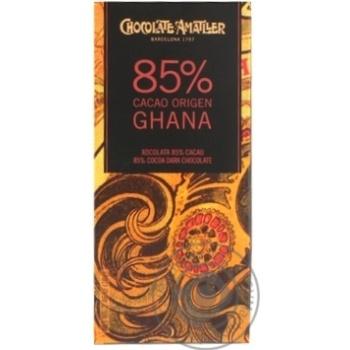 Шоколад черный Amatller Ghana 85% 70г