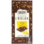 Шоколад черный Nestle L'atelier с цедрой лимона 115г