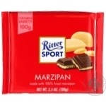 Шоколад черный Ritter Sport с начинкой марципан 100г