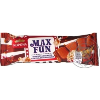 Шоколад молочный Корона Max Fun мармелад со вкусом колы, попкорном и взрывной карамелью 38г
