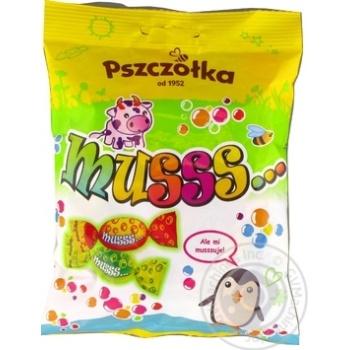 Цукерки-карамель фрукт асорті шипучі Musss Pszczolka 100г - купить, цены на Novus - фото 3
