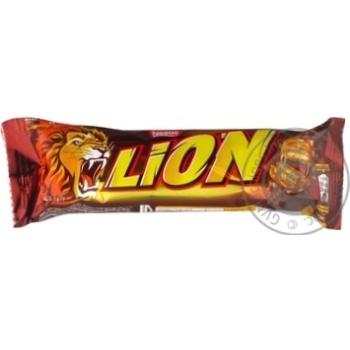 Батончик шоколадный Nestle Lion с карамелью 42г - купить, цены на Novus - фото 3