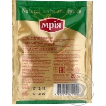 Лист лавровый Мрия молотый 20г - купить, цены на Novus - фото 2