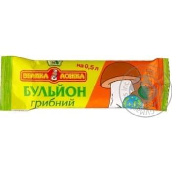 Бульйон Эко Большая ложка грибной 11г - купить, цены на Ашан - фото 1