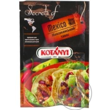 Приправа для приготування Такос Мексиканський Котані 20г