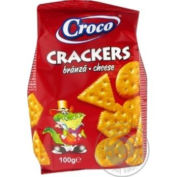 Cracker Croco Private import with taste of cheese 100g - buy, prices for Novus - image 1