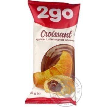 Скидка на Круассан 2go шоколадная начинка 60г