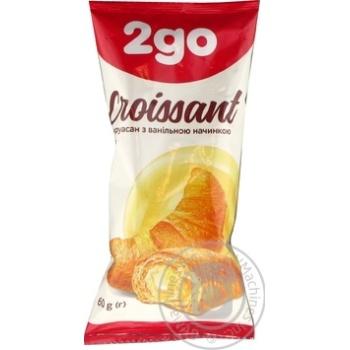 Круассан 2go с ванильной начинкой 60г - купить, цены на Novus - фото 1
