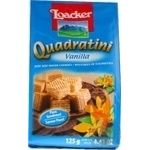 Cookies Loacker Quadratini waffle with vanilla 125g packaged