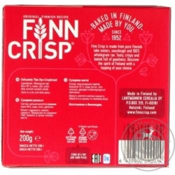 Сухарики Finn Crisp Original ржаные 200г - купить, цены на МегаМаркет - фото 2