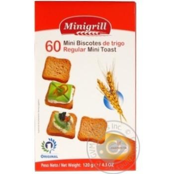 Тости пшеничні Minigrill 120г - купити, ціни на МегаМаркет - фото 1