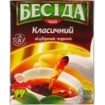 Tea Beseda black 100pcs 180g cardboard packaging