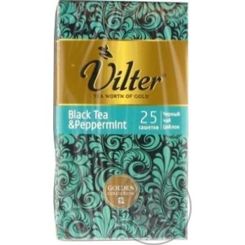 Чай чорний цейлонський байховий з м'ятою VILTER   в пакетиках 25х2г - купити, ціни на Novus - фото 2