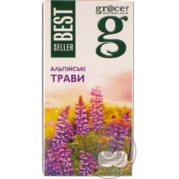 Суміш трав'яна Грейс! Альпійські трави з зеленим чаєм в пакетиках 25х1.5г