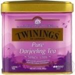 Чай Twinings Darjeeling черный байховый среднелистовой 100г