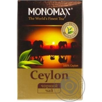 Чай черный Мономах Цейлон листовой цейлонский 90г - купить, цены на Novus - фото 1