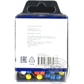 Канцелярські шпильки кольорові Sigma 100шт - купити, ціни на Метро - фото 2