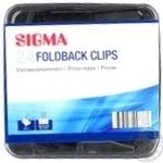 Биндеры черные Sigma 32mm 24шт