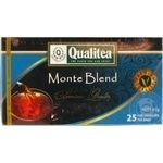 Black tea Qualitea Monte Blend Ceylon tea 25x1.8g teabags Ukraine