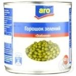 Горошек зеленый Aro консервированный
