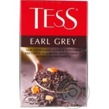 Чай черный Tess Earl Grey с бергамотом 90г