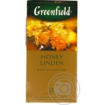 Чай Greenfield черный Honey Linden 25шт*1.5г