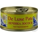 Печень лосося Остров De Luxe Pate пастеризованная 90г