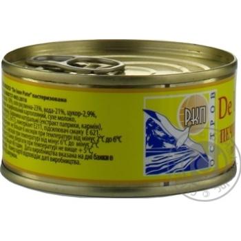 Печень лосося Остров De Luxe Pate пастеризованная 90г - купить, цены на Novus - фото 3